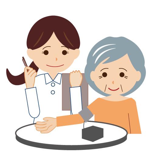 血圧測定バイタルサインのチェック